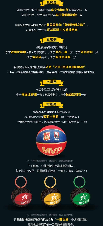 2014年肯德基篮球赛奖项设置