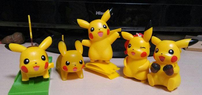 肯德基五款皮卡丘玩具
