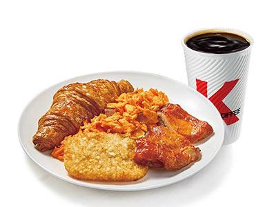 肯德基有鸡腿西式全餐,价格29.00元/份