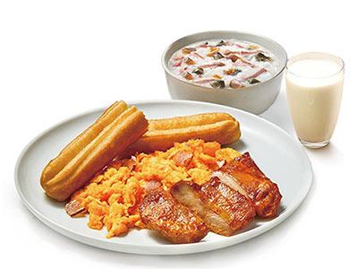 肯德基有鸡腿中式全餐,价格26.00元/份