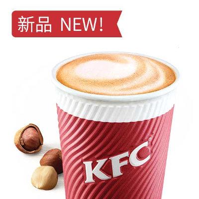 肯德基榛果风味拿铁(热),价格16.00元/中杯