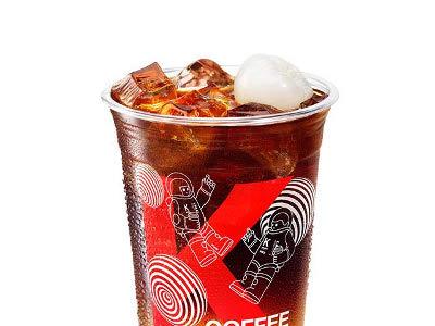 肯德基荔枝气泡冰咖啡,价格17.00元/中杯