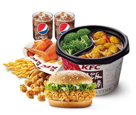 肯德基K记饭桶双人套餐,价格62.00元/份