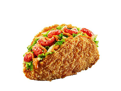 肯德基十三鲜小龙虾超级塔可,价格25.00元/份