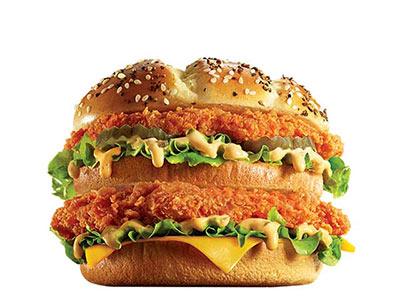 肯德基重磅双层鸡排堡,价格20.00元/个