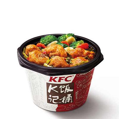 肯德基老坛酸菜鸡块饭,价格23.00元/桶