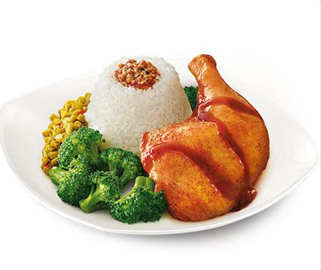 香烤照烧鸡腿饭23.50元/份 - 肯德基主食菜单价格表