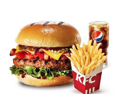 肯德基芝士培根澳洲牛堡套餐,价格40.00元起