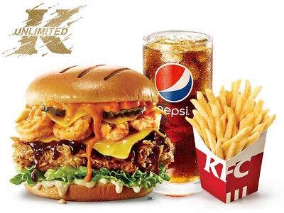 肯德基脏脏大虾堡单人餐,价格39.00元起