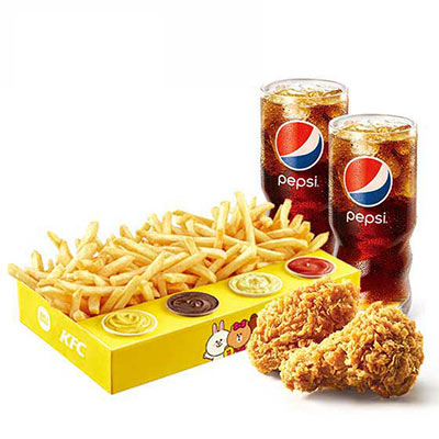 肯德基终极四酱超级薯条盒超值二人餐,价格45.00元/份