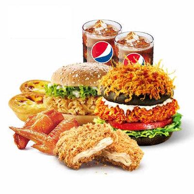 肯德基愤怒的汉堡双人餐59.00元/份-肯德基套餐菜单表