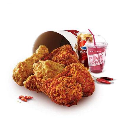 炸鸡桶粉红可乐餐