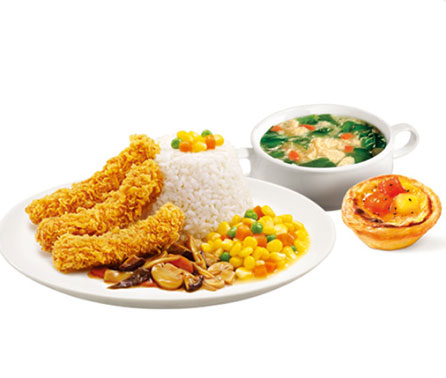 肯德基香辣鸡柳饭套餐a25.50元/份-肯德基套餐菜单表