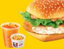 KFC菜单图片:深海鳕鱼堡套餐(Cod Fish Burger Combo)
