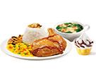 KFC菜单图片:香烤照烧鸡腿饭套餐B()