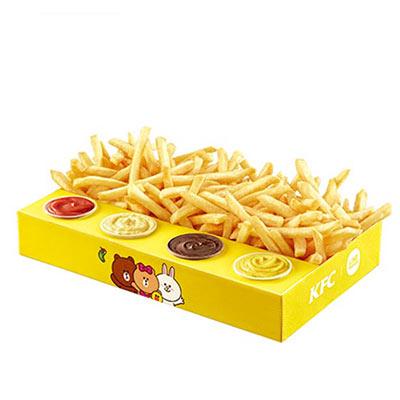肯德基终极四酱超级薯条盒,价格27.00元/盒