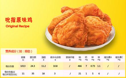 肯德基吮指原味鸡,价格10.00元/块