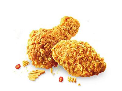 肯德基热辣薯片鸡翅,价格12.00元/2块