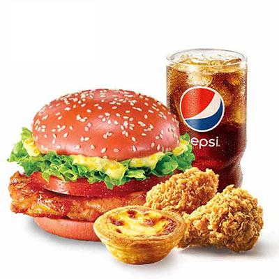 肯德基柚香鸡腿堡午餐套餐,价格35.00元/份