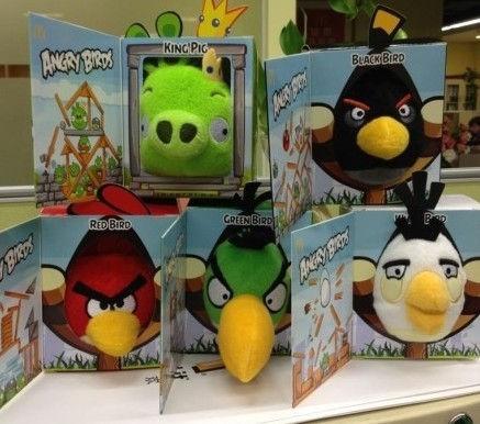 麦当劳2012年9月最新毛绒玩具:愤怒的小鸟