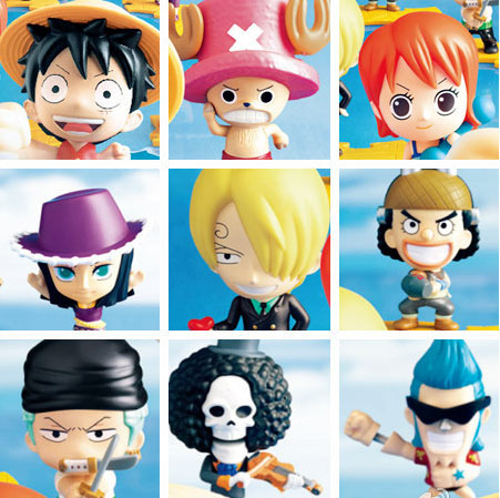 麦当劳9款航海王玩具