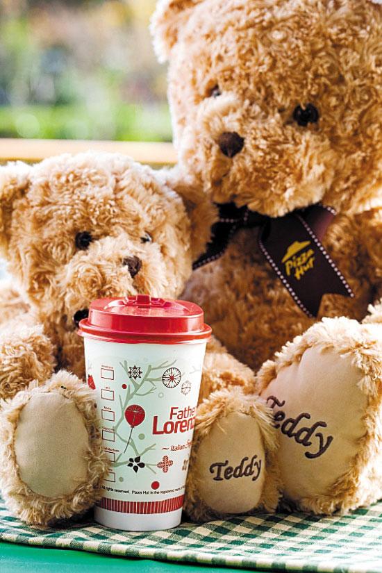 必胜客泰迪熊玩具公仔