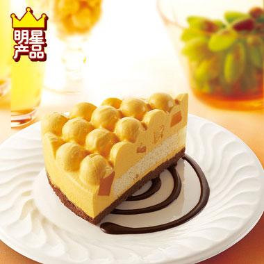 松软的蛋糕上铺满可爱的泡泡形芒果慕斯,内嵌芒果果粒,细腻香滑,别有
