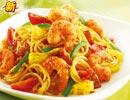 必胜客菜单价格图片:南洋风味桑巴鲜虾面(Nan Yang Shang Ba Mian)