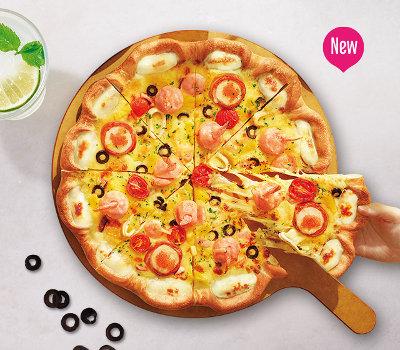 必胜客海鲜大狂欢比萨,价格79.00元/普通装