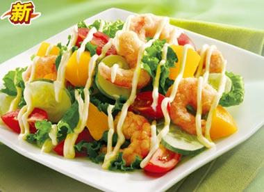 大虾蔬果沙拉